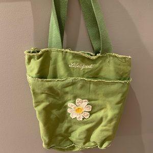 Green Daisy Life is Good Bag